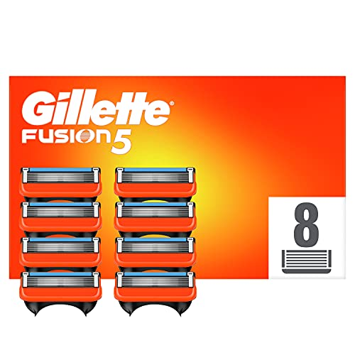 Gillette Fusion5 Rasierklingen, 8 Rasierklingen pro Packung, mit Anti-Irritations-Klingen für bis zu 20 Rasuren pro Klinge, aktuelle Version