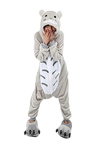 Pijamas Disfraces Onesie Animal Adultos kigurumi Carnaval Halloween o Fiesta Espectáculo Navideño Mono Cosplay Ropa Interior de Zoológico Invierno Unisex Mujeres y Hombres - L - Totoro