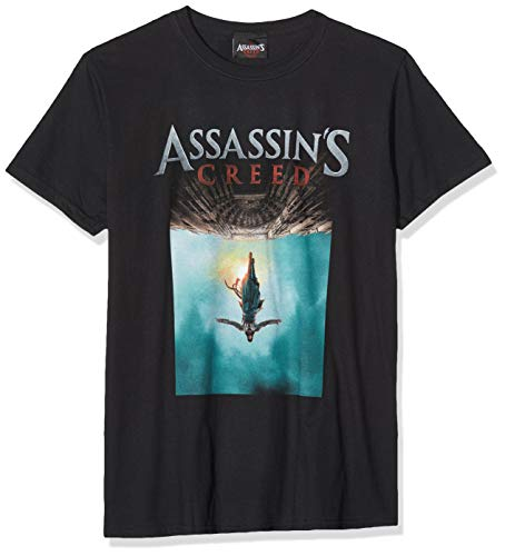 CID Herren Assassin's Creed Movie-Poster T-Shirt, Schwarz (Black), M