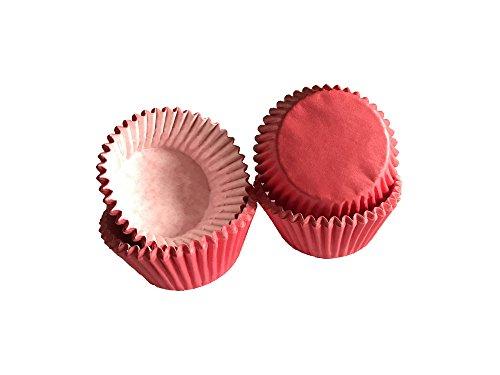 Tasty Cooky Shop Lot de 40 mini caissettes à muffins en papier Rouge