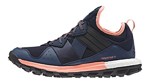 adidas Damen Response TR Women Laufschuhe, Mehrfarbig (Mineralblau/Superpurple/Sun Glow Orange/Weiß), 40 EU