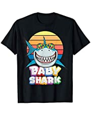 Cool Baby Shark Tee shirts, Funny Baby Shark Family Graphic Camiseta