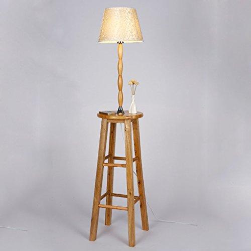 WEBO HOME- Regalboden Lampen Stoff Schatten Holz Schreibtisch Lampen Schlafzimmer Couchtisch Chinesische Nachttisch Lichter Schlafzimmer Couchtisch Stehleuchte -Stehlampe