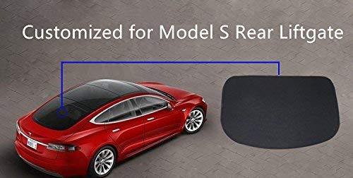Lmzx Tesla Model S Faltbarer Sonnenschutz für Auto Heckscheibe Sonnenschutz für Modell S