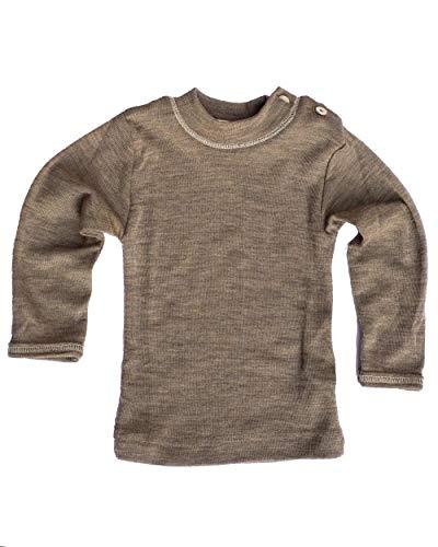 Baby-Shirt, langarm, Gr:-110/116 Farbe:-Walnuss
