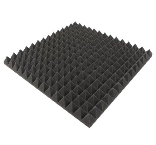Akustikpur - 1m² - 4 St. ca. 50 cm x 50 cm x 5 cm - Akustikschaumstoff,Pyramiden Akustik Schaumstoff,Akustik Dämmung