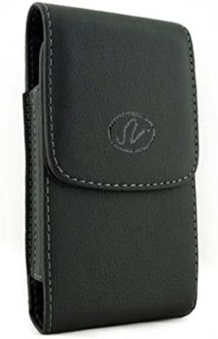 Case Belt Clip Leather Holster Cover for Moto E (2020), Pouch Vertical Carry Protective Black Compatible with Motorola Moto E (2020)