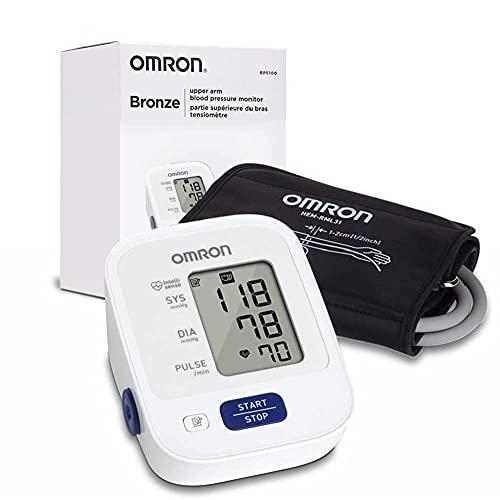 OMRON Bronze Blood Pressure Monitor, Upper Arm Cuff, Digital Blood Pressure Machine, Stores Up To 14 Readings