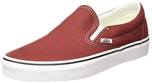 Vans Classic Slip On Mens 7.5 Womens 9 Madder Brown True White Skate Shoe