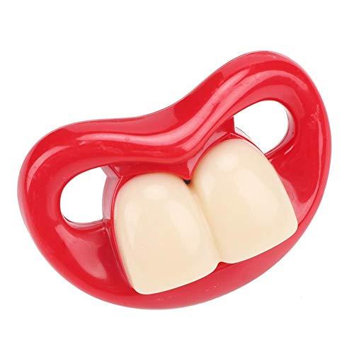 Baby Schnuller, Weiche Silikon Schnuller Schnuller Spaß Nippel Schnuller Lustige Mund Beißring Baby Spielzeug Badespielzeug für gestillte Babys(#4)