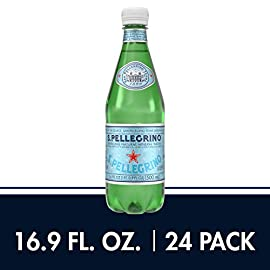 S.Pellegrino Sparkling Natural Mineral Water, 16.9 fl oz. (24 Pack) 9 Twelve 33.8 fluid ounce/1 L BPA free plastic bottles Sparkling water imported from Italy Crisp and clean taste pairs well with any meal