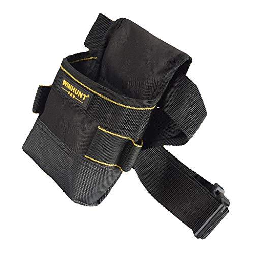MagiDeal Black Oxford Electrician Tools Pouch Bag Cinturón de Cintura de Carpintero Multiusos