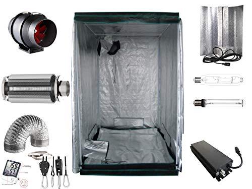 Generic Growbox Komplettset Pro 600 W dimmbar NDL 120x120x200cm VSG AKF Growzelt