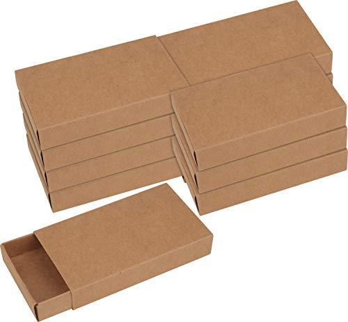VBS Kraftpapier Streichholzschachteln XL, 12 Stück
