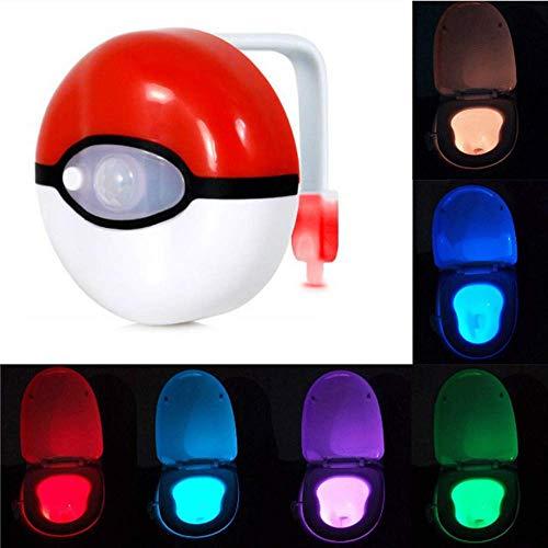 Luces de la Noche Aseo Llevado detección automático de la luz de inducción Led Colgante Cuerpo-Sensing WC Cubierta pequeña de la Noche de luz de 8 Colores qiuliyin