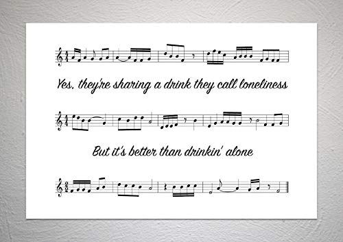 Billy Joel - Piano Man - Song Sheet Lyric Art Print - A4 formaat