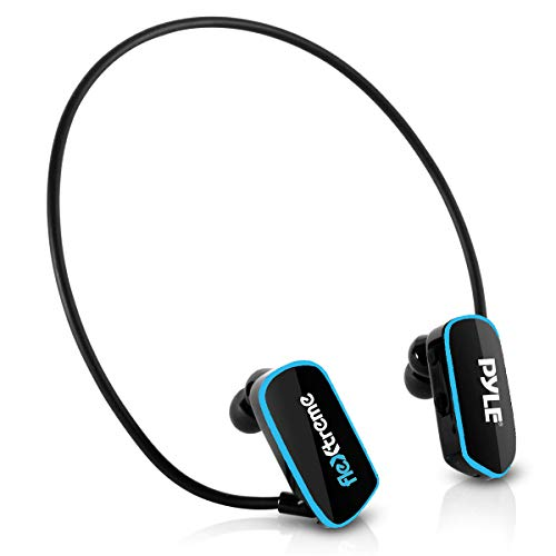 waterproof mp3 players for swimmings Pyle Upgraded Waterproof MP3 Player - V2 Flextreme Sports Wearable Headset Music Player 8GB Underwater Swimming Jogging Gym Earphones Rechargeable Flexible Headphones USB Connection9 -PSWP14BK