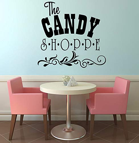 Dalxsh Die Süßigkeiten Shoppe DIY Dekorative Kunst Wörter VinylWandaufkleberMit BlumenmusterWohnkultur 31x29 cm