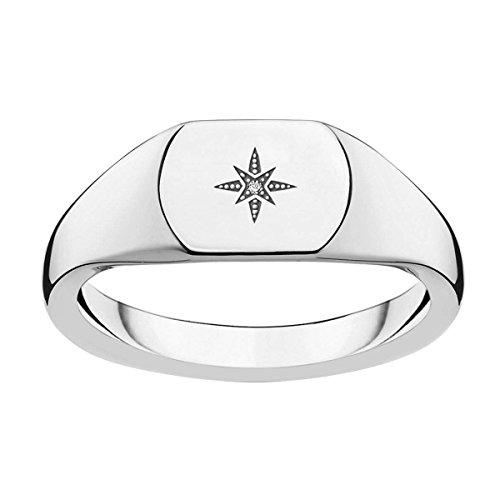 Thomas Sabo Damen-Ringe 925 Sterlingsilber mit \'- Ringgröße 58 D_TR0038-725-14-58