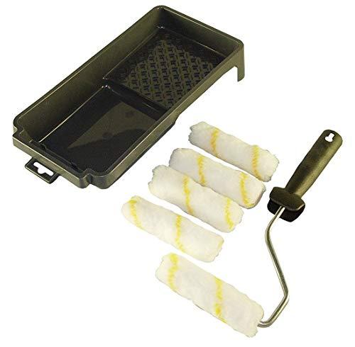 NESPOLI Kit Mini Rouleau avec 4 Recharges et un Bac à Peinture