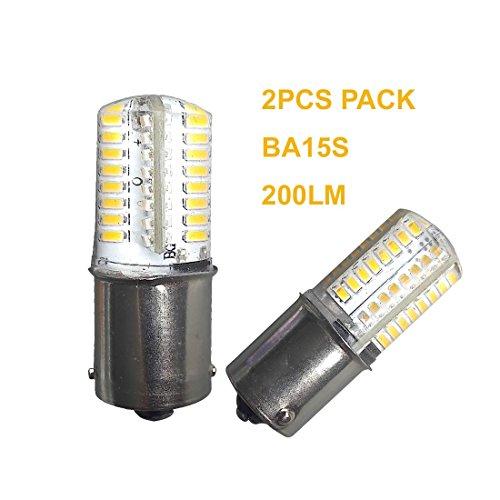 Qlee 2 pcs BA15S Ampoule LED SMD3014 Blanc chaud 2700-3000 K DC12 V AC12 V Bateau de voiture lumière ampoule de rechange pour RV Camper SUV MPV Voiture Tournez Queue lecture sauvegarde lumières