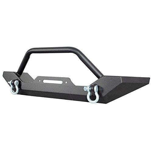 Paramount Automotive Restyling 51-0034 Black Front Heavy Duty Rock Crawler Bumper (Jeep Wrangler YJ TJ)