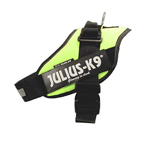 Julius-K9 Power Harness 14857 Arnés para perros, color Verde Neón, talla 1 (Large), 63-85 cm