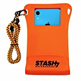 Stash7 Waterpocket Premium Waterproof Phone Pouch   The Only Adventure Grade Phone Case for iPhone 12, 12 Pro Max, 7, 7 Plus, 8, 8 Plus, XS, XS Max, XR, 11, 11 Pro Max, Galaxy S9+, S10+