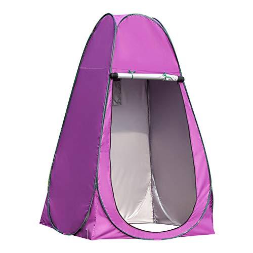 Milageto Tienda de Vestuario -UP portátil con Bolsa de Transporte, Vestir al Aire Libre/Ducha/Camping Inodoro/Pesca/Playa, Refugio de Mochila - 1,2 Metros púrpura