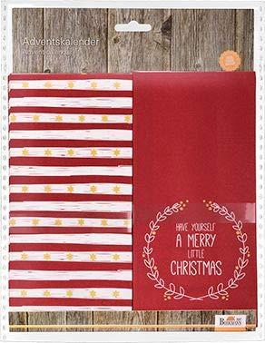 knusper.haus Adventskalender/Tüten mit Motiv Have Yourself A Merry Little Christmas (8 Motive - 10 x 21 x 5,5 cm/Rot) ZUM BEFÜLLEN