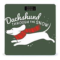 雪の中のダシュンド LCDディスプレイ付き高精度スマートフィットネススケール体重デジタルバスルームボディスケール