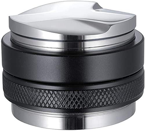 Huajing 51mm Coffee Distributor/Leveler & Tamper,Fits for 51mm Breville Portafilter,Dual Head Coffee Leveler, Adjustable Depth Professional Espresso Hand Tampers 2-in-1
