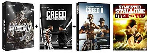 Sylvester Stallone Rocky - La Saga Completa + Creed 1 + 2 + Over The Top (9 Dvd) - Edizione Italiana