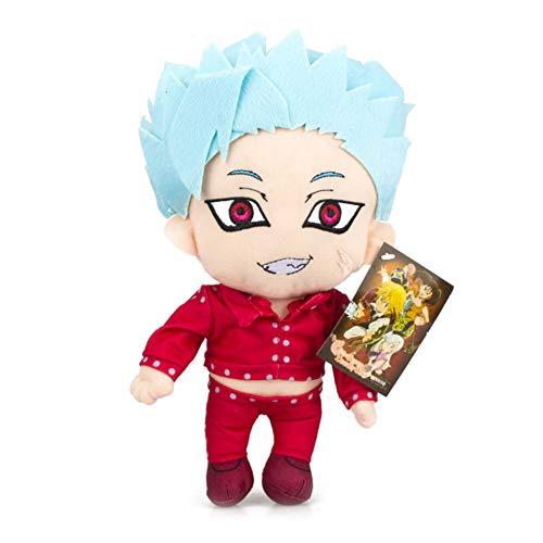 SGOT The Seven Deadly Sins Plüschtier, Anime Puppen, Meliodas/Hawk/Ban Plush Toy Kreative Netter, Geburtstags Geschenk for Anime Lovers 20cm(20cm Ban)