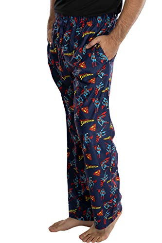 Product Image 4: DC Comics Men's Superman All Over Print Loungewear Pajama Pants (X-Large) Blue
