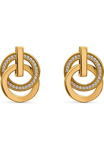 JETTE Silver Damen-Ohrstecker Swing 925er Silber 58 Zirkonia One Size Gelbgold 32010617