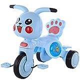 Tricicletas de Triciclo triciclos de Dibujos Animados triciclos de niños, niños 1-3-5 años de Edad bebé liviano Scooter con Luces de música Chica Chica (Color: Azul) (Color : Blue)