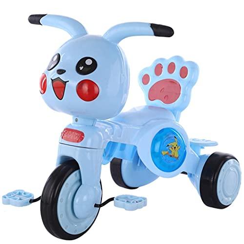 NUBAO Triciclo Triciclo Trike Dibujos Animados niños triciclos triciclos, niños 1-3-5 años de Edad bebé liviano Scooter con Luces de música Chica Chica (Color: Verde) (Color : Blue)