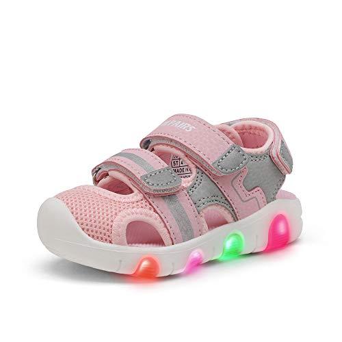 DREAM PAIRS Toddler Boys Girls KAS214 Light Up Athletic Outdoor Summer Sports Sandals,Light...
