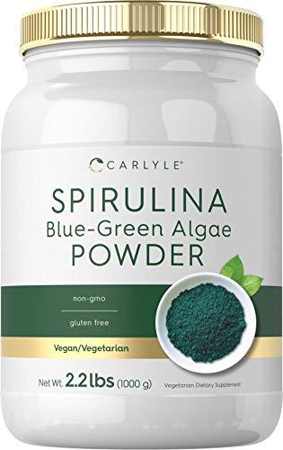 Carlyle Spirulina Powder 2.2 lbs | Blue Green Algae | Superfood Supplement | Vegan, Non-GMO, Gluten Free