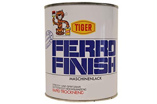 Tiger Ferro Finish Maschinenlack hochglänzend rapid trocken lösemittelhaltig 1 Kilogramm Farbwahl, Farbe (RAL):RAL 8011 Nussbraun
