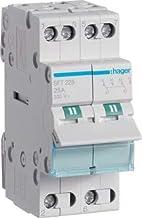 Hager SFT225 - Conmutador modular 2 polos 25a comun arriba i-0-ii