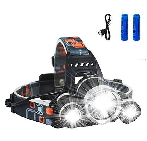 Led Headlamp 12000 Lumens Ultra Bright Headlight Rechargeable 4 Modes Waterproof Sensor Headlamp Flashlight Perfect Hat Light for Outdoor Fishing Camping Hunting