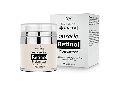 Skin Care | Radha Beauty Retinol Moisturizer Miracle Cream for Face – with Retinol, Hyaluronic Acid, Vitamin E and Green Tea. Best Night and Day Moisturizing Cream 1.7 fl oz., Gym exercise ab workouts - shap2.com