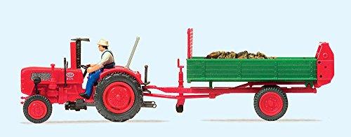 Preiser 17940 H0 Ackerschlepper Fahr mit Einachs-Dungstreuer