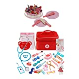 Generic Set Completo Doctor Kit Pretend Gioca Toy Birthday Cake Tableware Set Toy