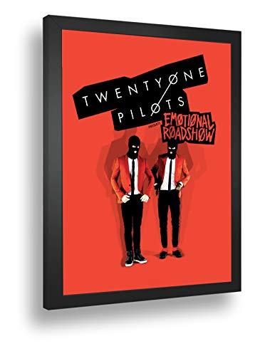 Quadro Decorativo Poster Twenty One Pilots Banda