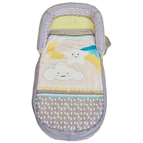 Ready Bed 401CLO Letto Gonfiabile e Sacco a Pelo per Bambini 2 in 1, Grey, 130 x 61 x 23 cm, 60_x_120_cm, poliestere-cotone