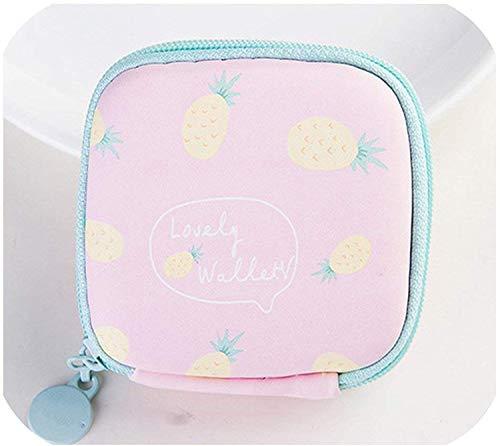 OneCherry Shop Cartoon Cute Fruit Coin Bag Zipper Fruit Coin Case Purse Mini Wallet Girl Earphone Storage Bag,5,OneSize