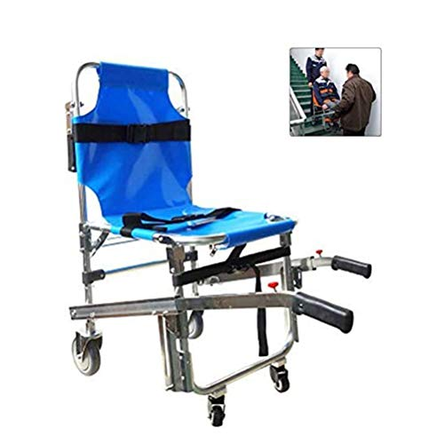 GFYWZ EMS Treppenstuhl Rettungswagen Feuerwehrmann Evakuierung Medizinischer Transportstuhl mit Rückhaltegurten für Patienten, 350 lbs Kapazität